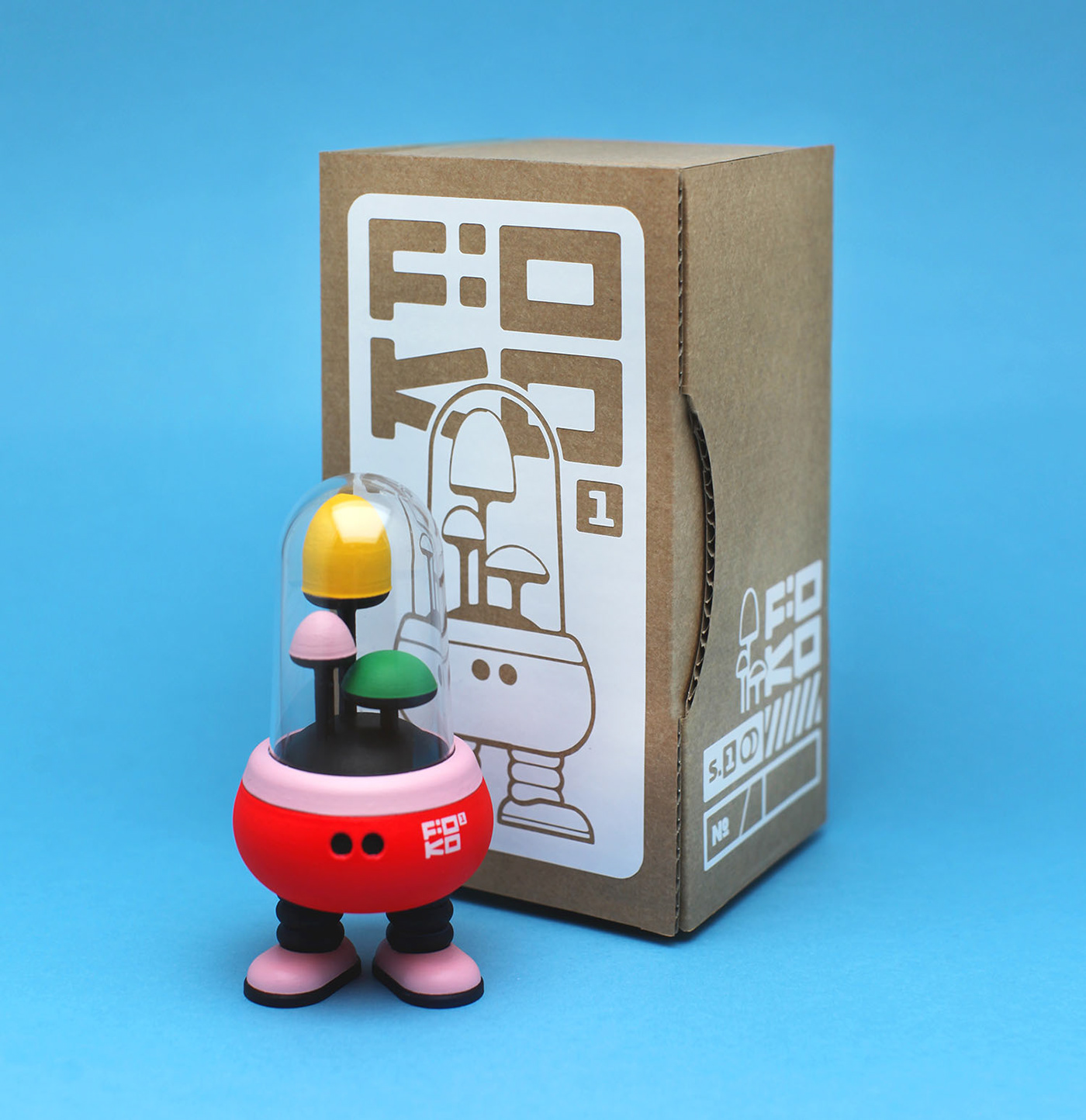 3D model 3d modeling 3d printing 3d toy Character design  handpainted toy loulou tummie robot toy toy design