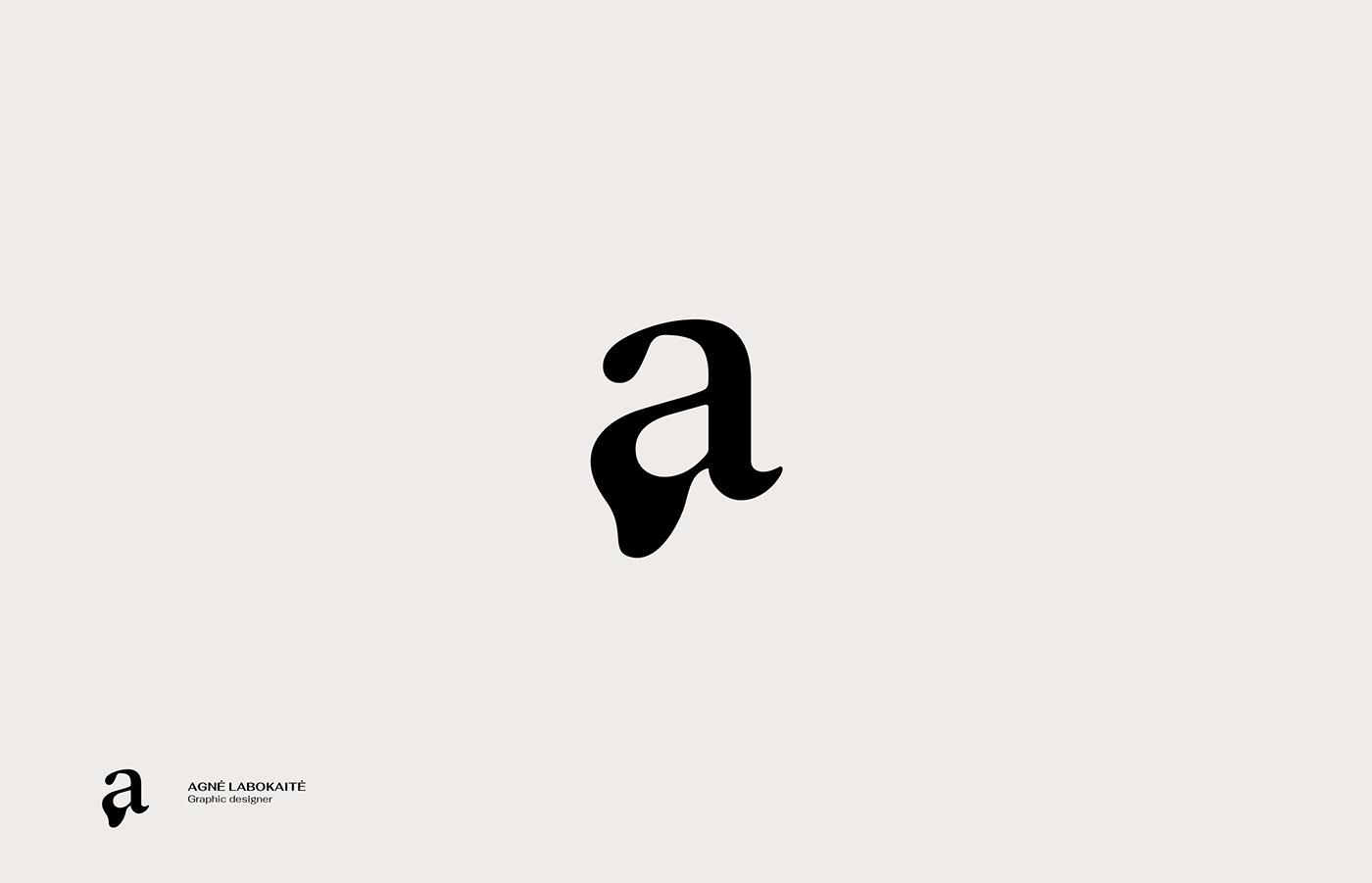 Image may contain: drawing, cartoon and sketch. Logo for graphic designer Agnė Labokaitė.