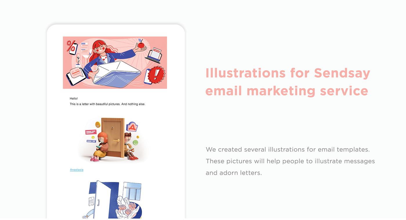 Black Friday Email flat ILLUSTRATION  letter marketing   template