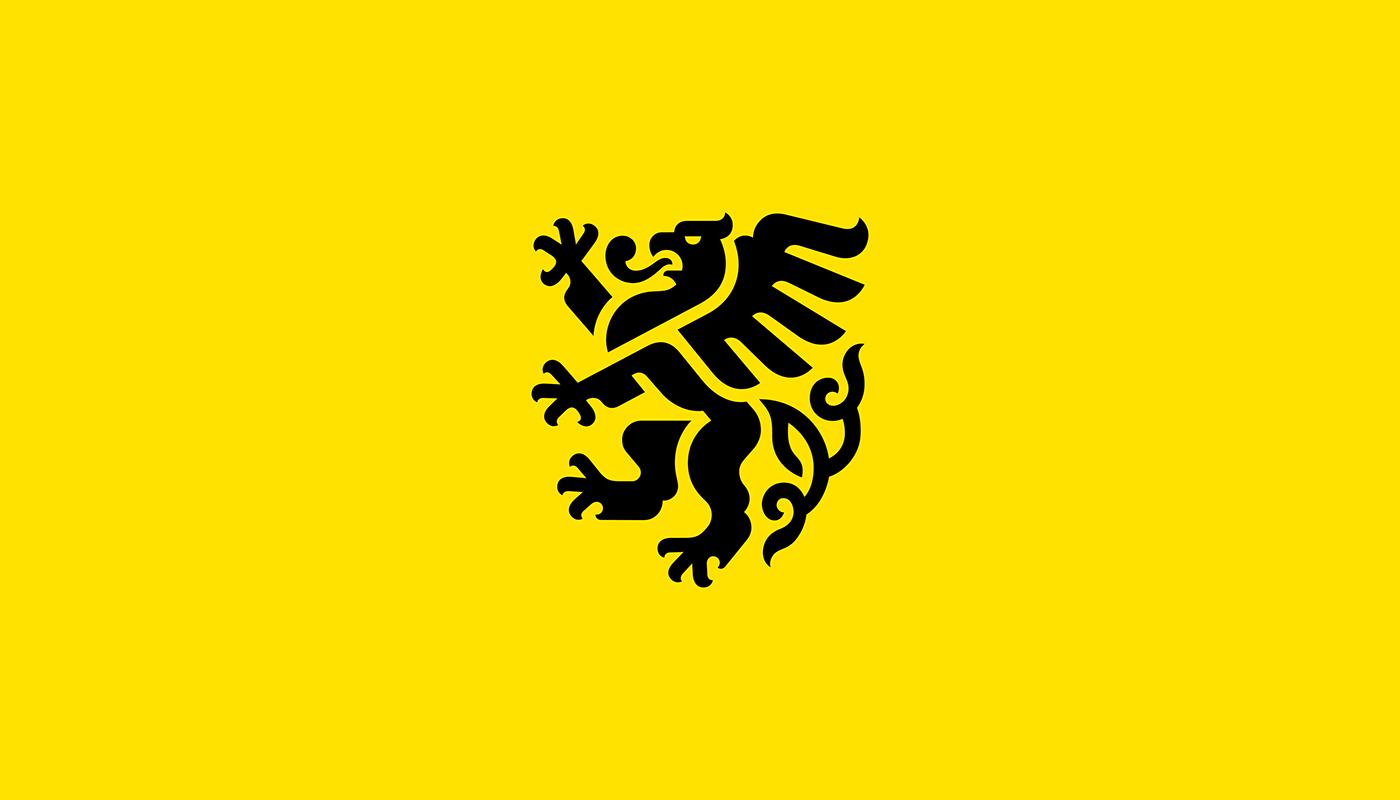 brandbook branding  Government graphic design  gryphon heraldry Identity System logo Stationery visual identity