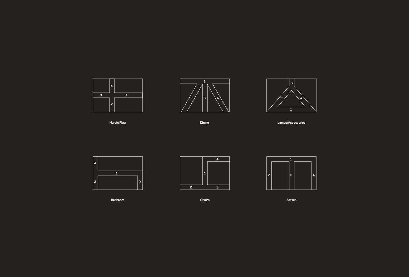 furniture Scandinavian denmark Sweden norway Stationery Business Cards catalog identity Logo Design Corporate Identity flag colorful