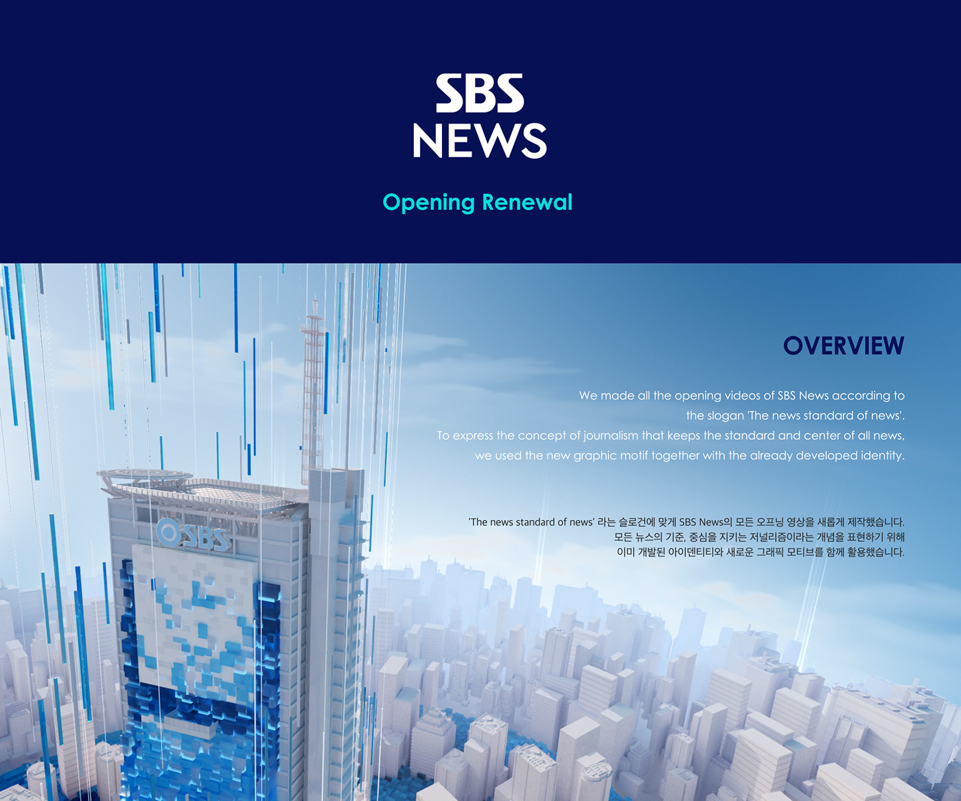 Adobe Portfolio branding  news Opening SBS Title