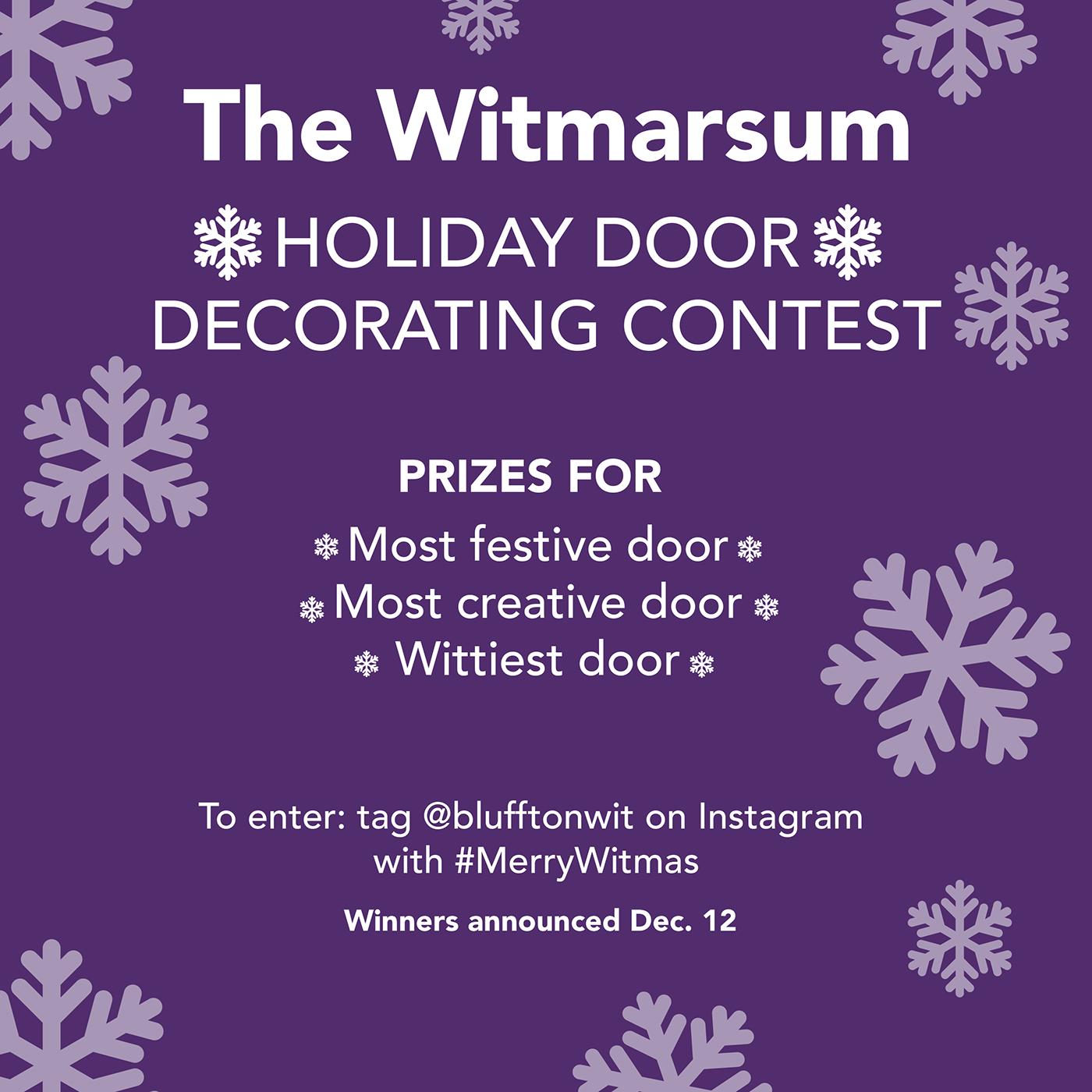 Christmas Door Decorating Contest Flyer