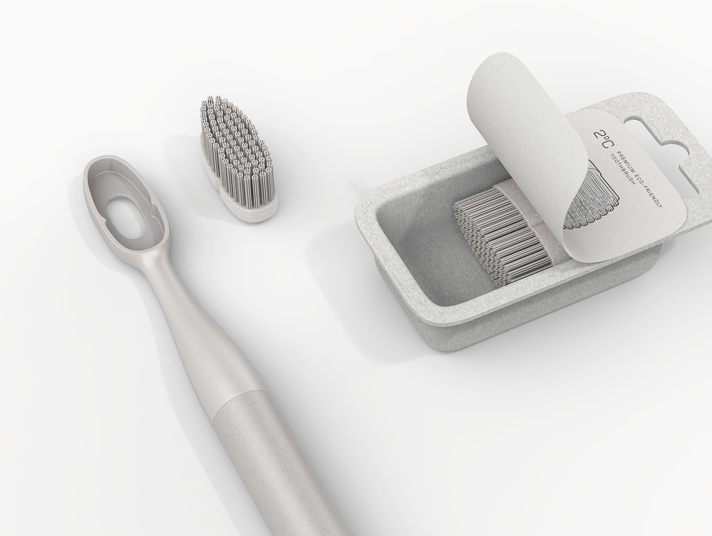 toothbrush eco-friendly Sustainable plastic waste premium global warming Smart pulp carton Magnetic