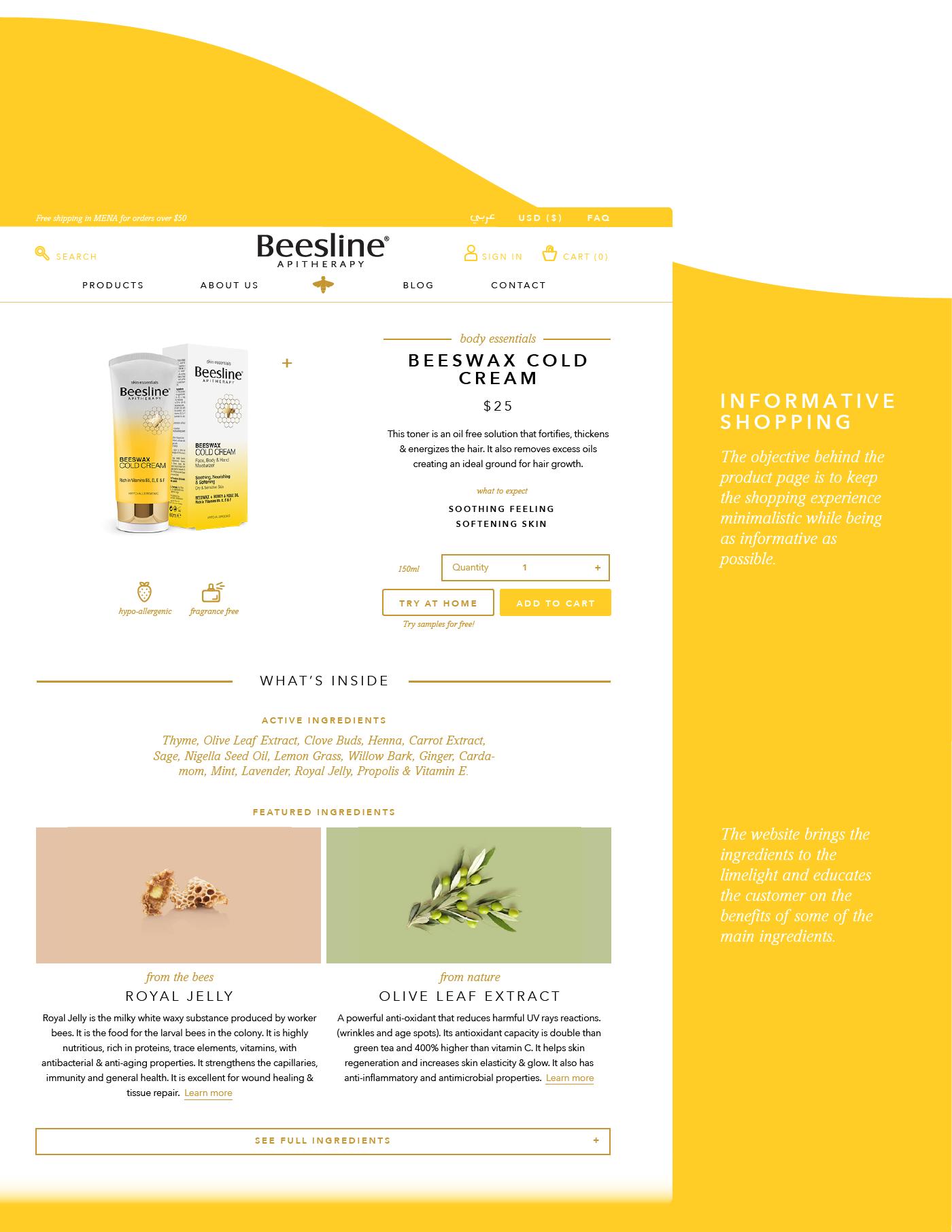 Web Design  Ecommerce natural cosmetics Nature collage icons minimal UI ux