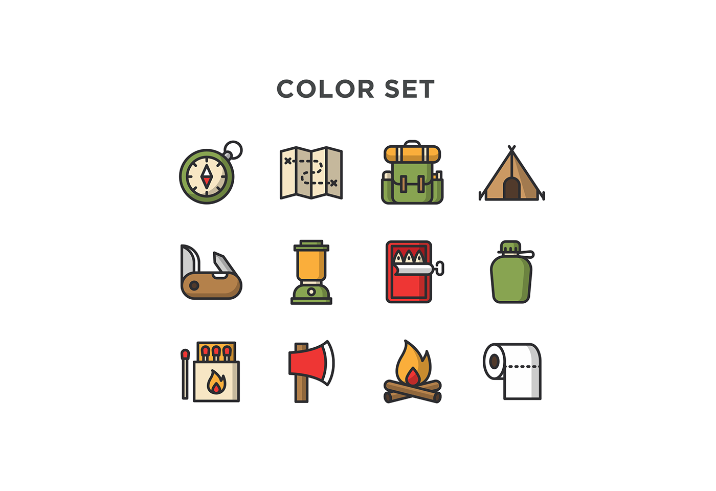 free icons free download Icon flat camping free icon backpack pressure lamp map