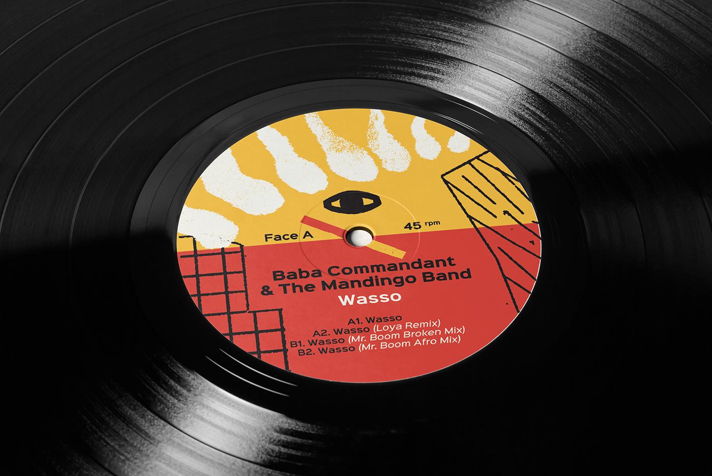 Baba Commandant Amp The Mandingo Band Vinyl Cover On Behance