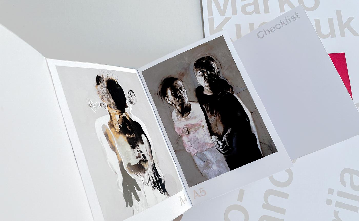 book Booklet editorial design  Exhibition