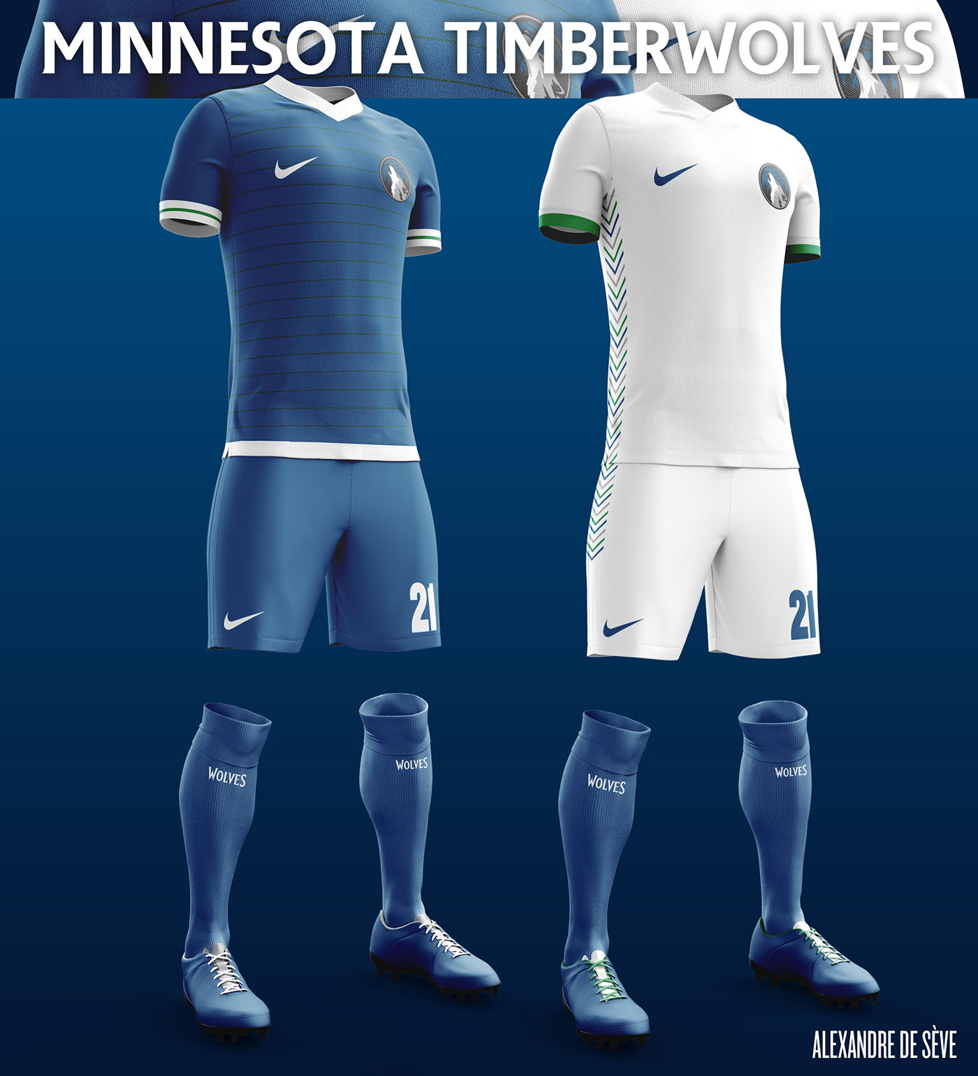 Talisman & Co. | Minnesota Timberwolves Soccer Concept Kit