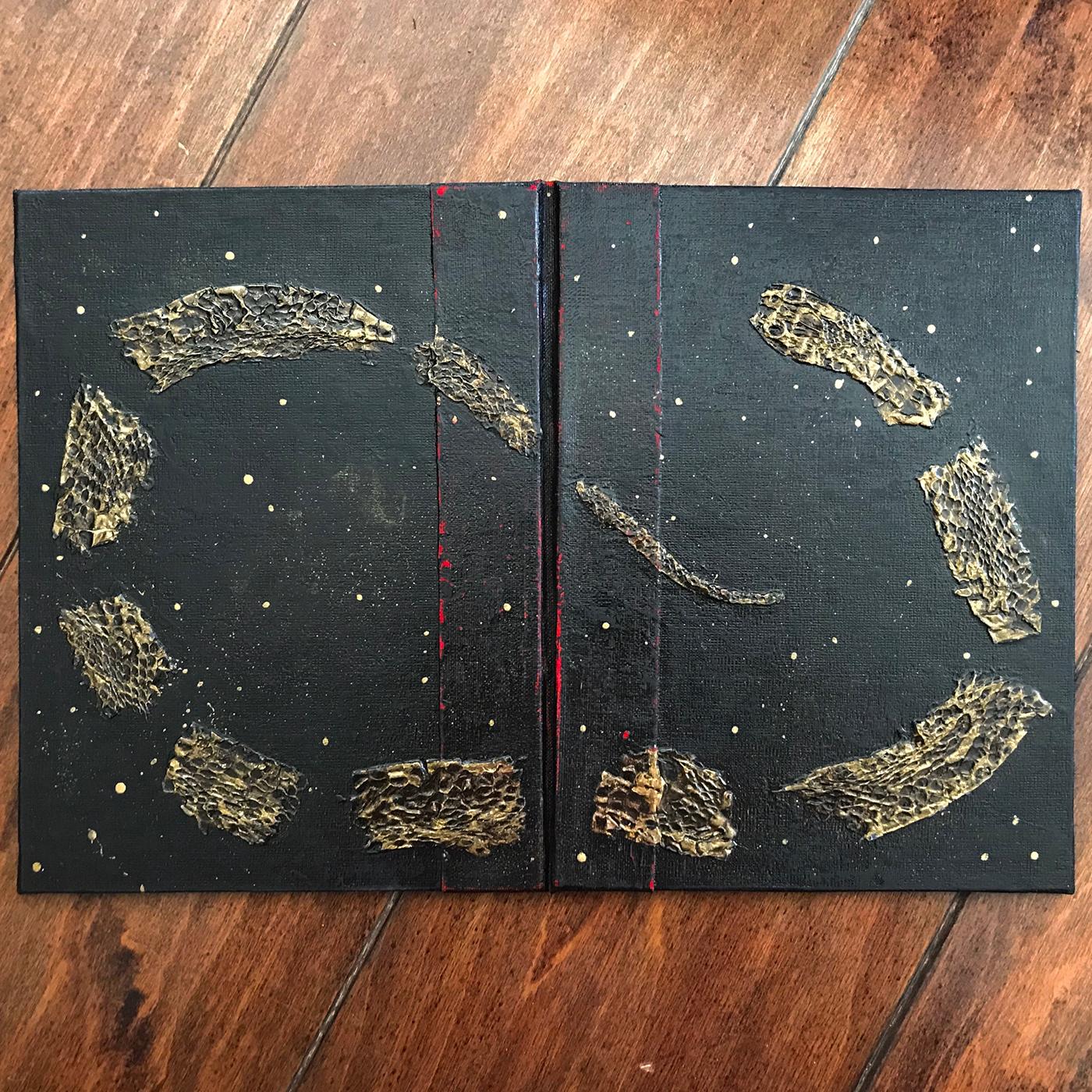 book art Bookbinding snake snakeskin