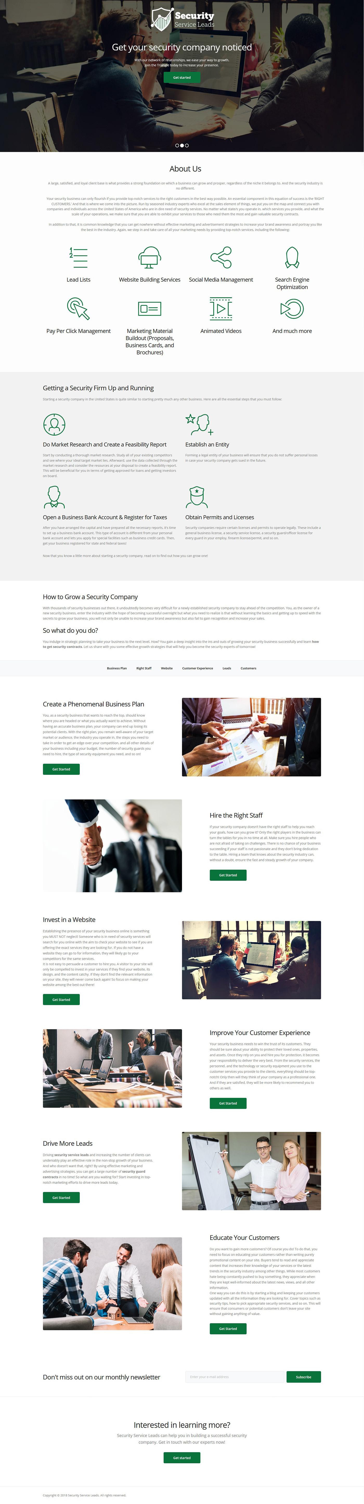 security provider template Lead Template Social Media Management SEO website template ui design
