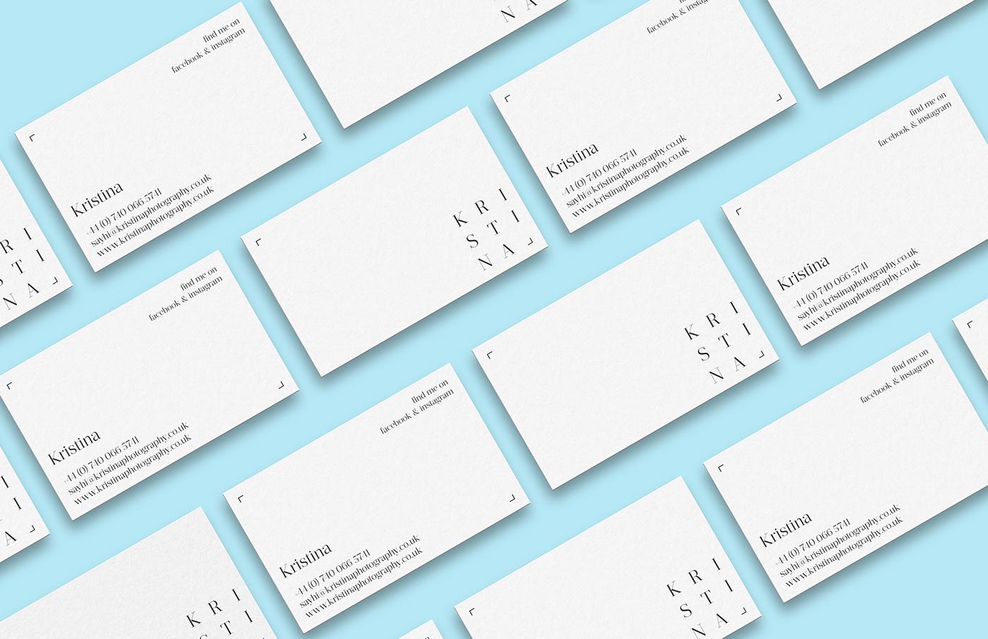 logo branding  photographer business card Minimalism minimal black & white Logotype identity brand