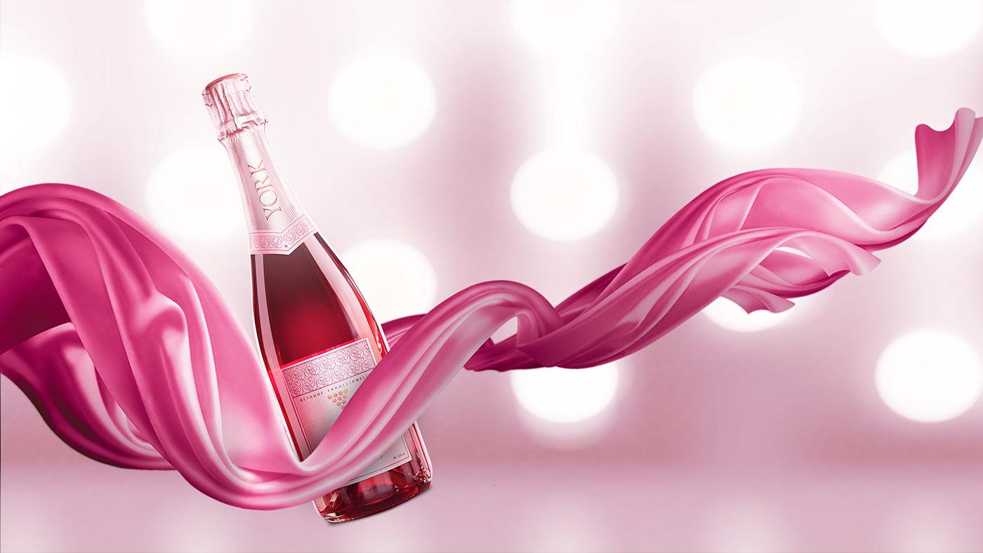 wine label Startup Farms rose york winery label design pink wine
