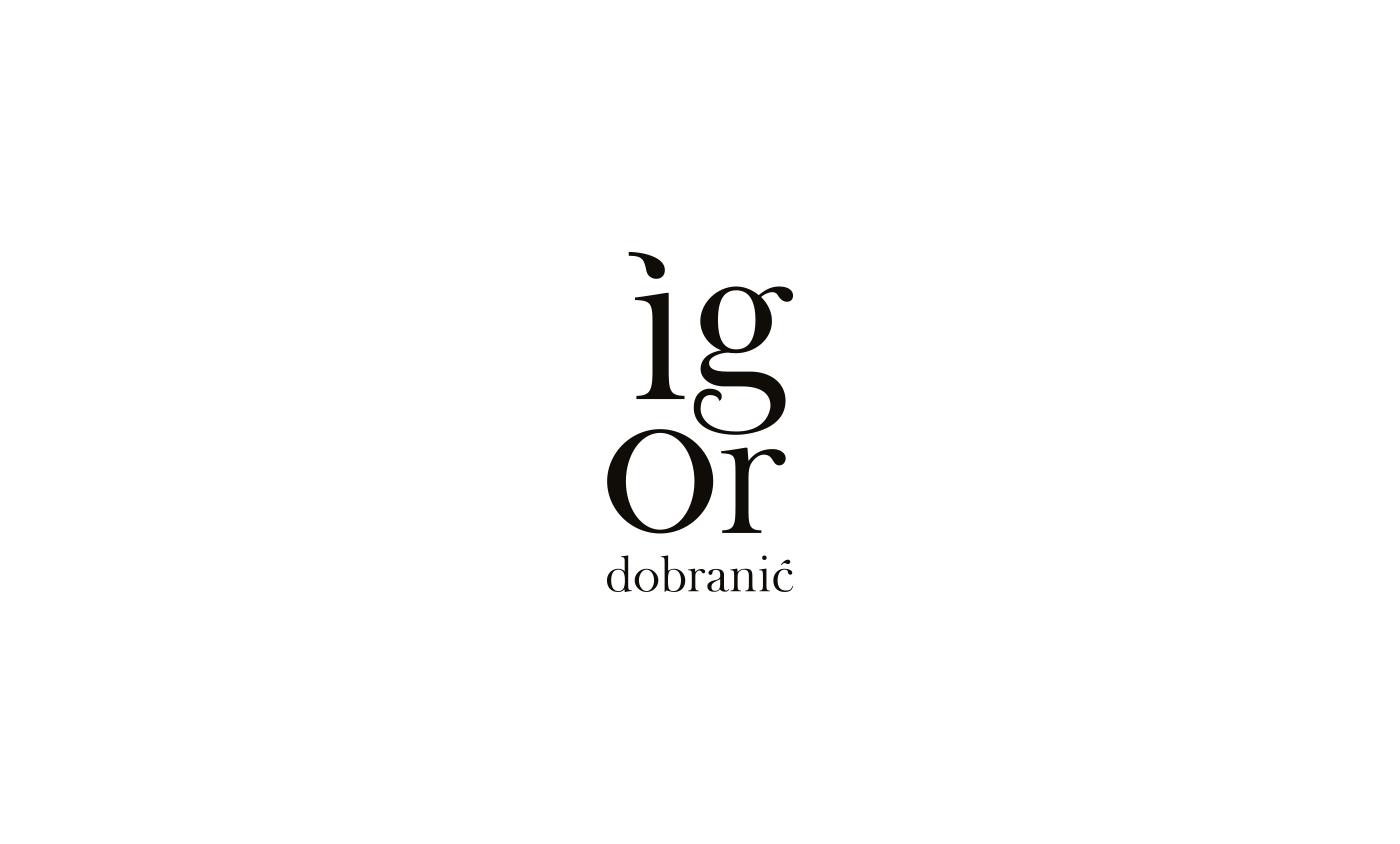 logo Logotype Fashion  igor dobranic minimalist black White