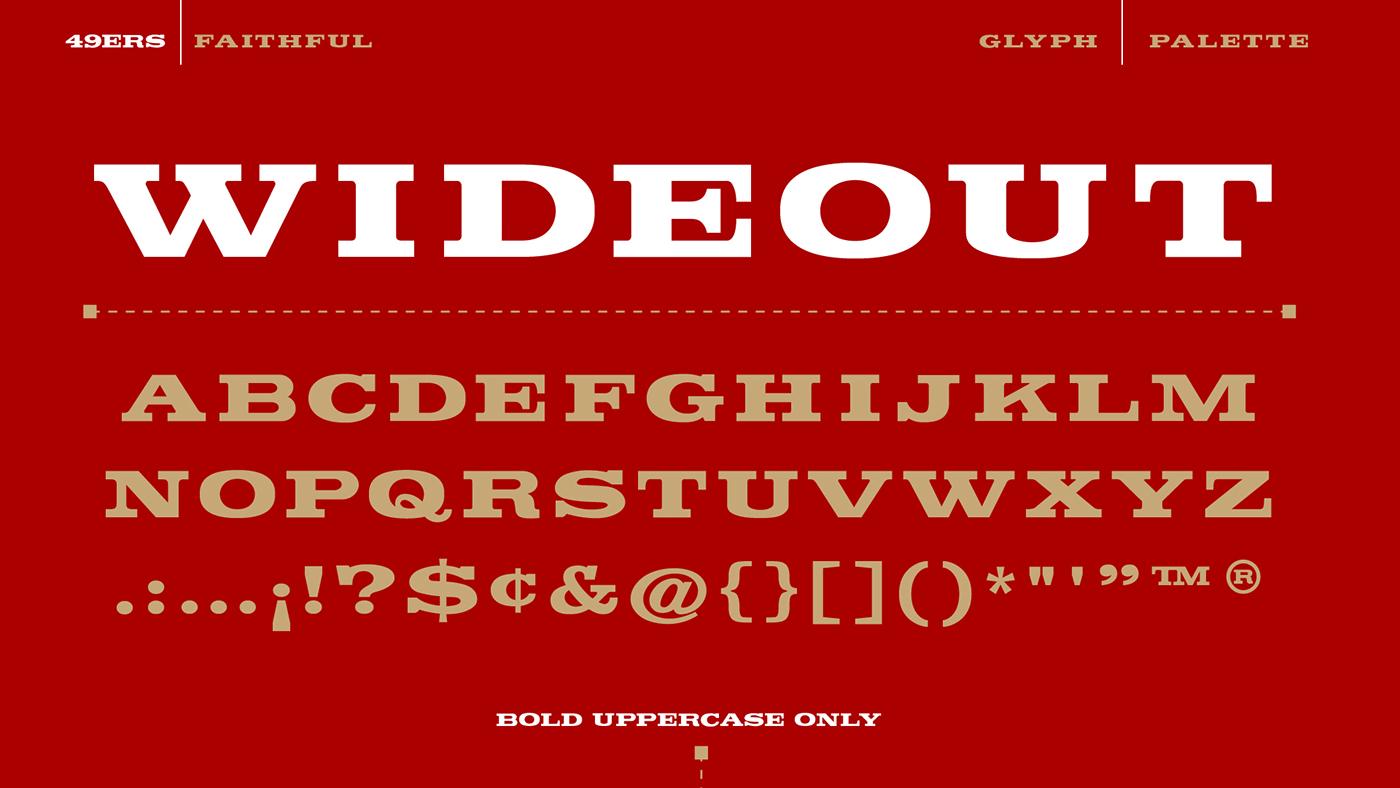 49ers faithful font on behance