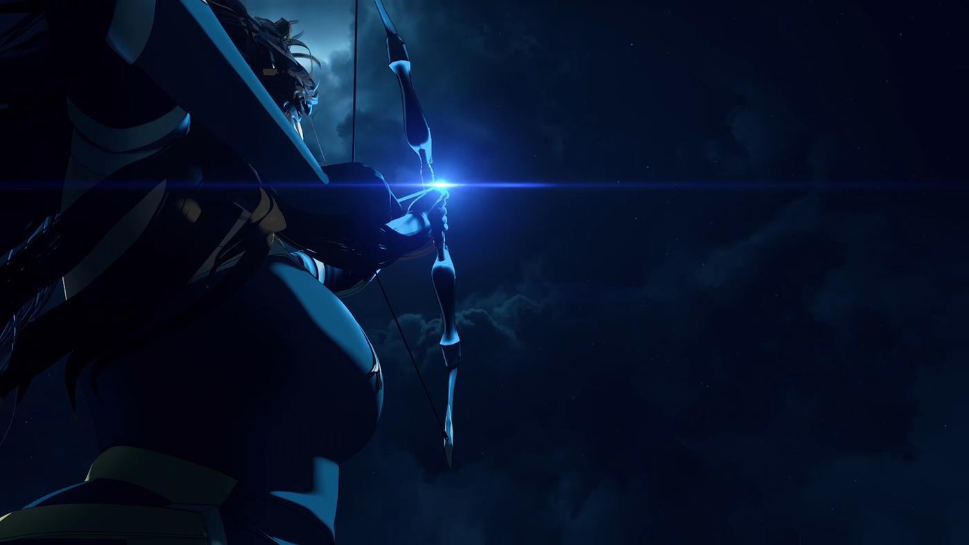 aftereffects c4d cinema4d Netflix titlesequence 3D Animtaion CGI DOTA Render