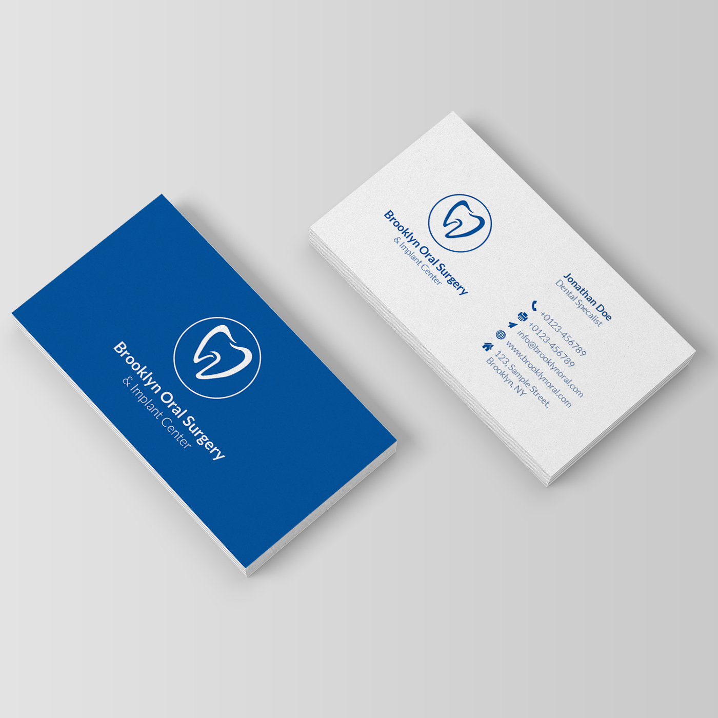 dental business card on behance