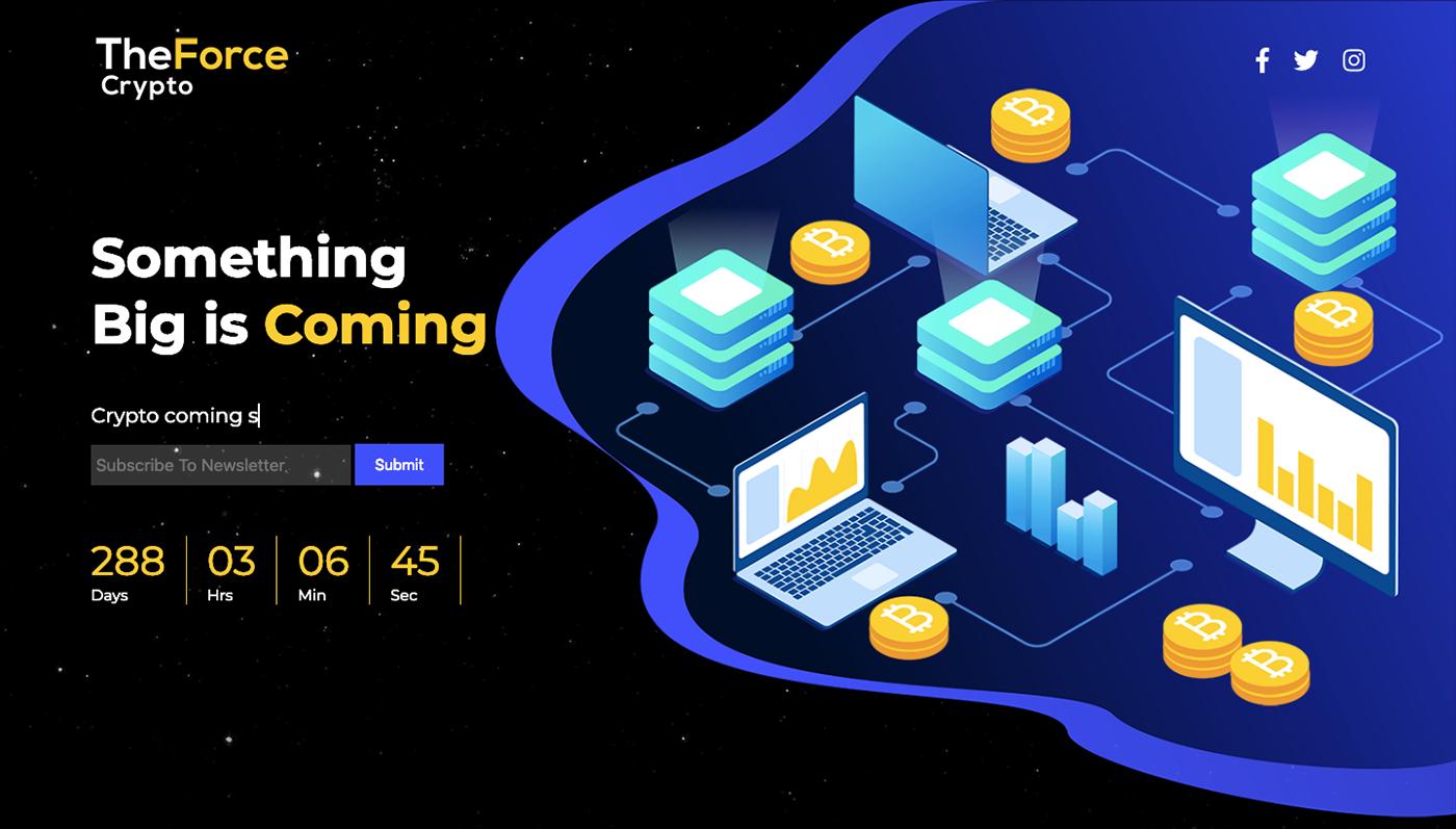 animation  css3 Coming Soon Maintenance Mode countdown crypto bitcoin