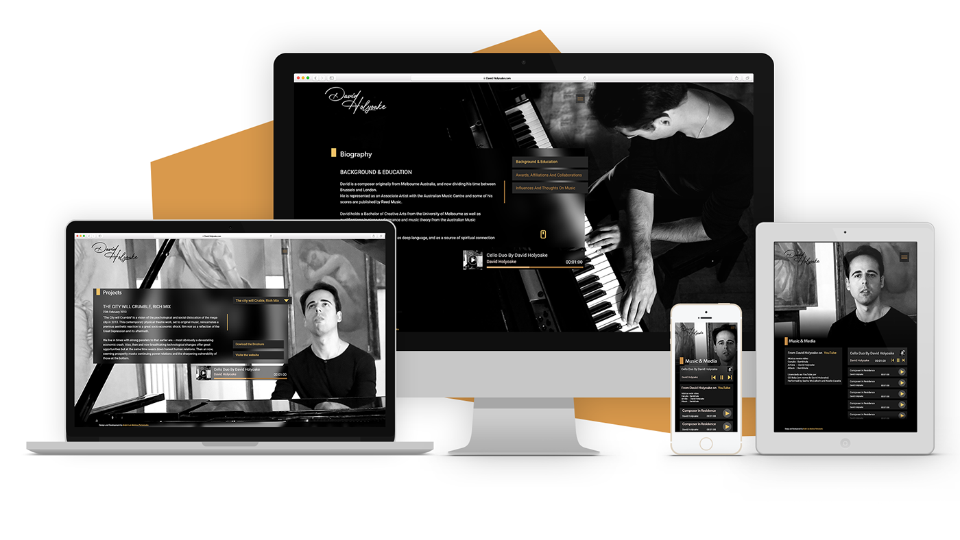 david holyoake design Website Webdesign ui design UX design