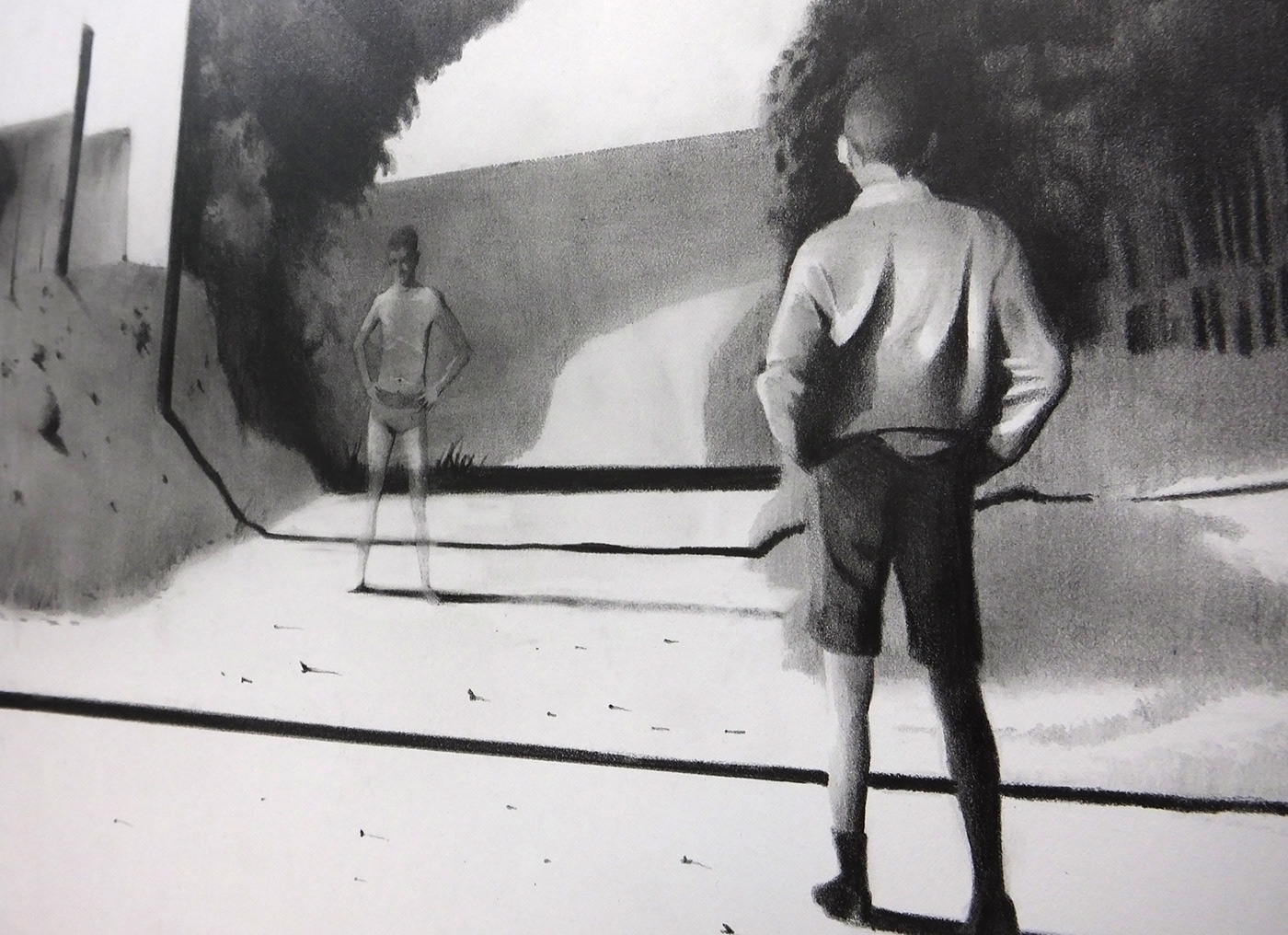 architecture branck&white contemporaryart Drawing  figure graphite paper pencil Perspective Realism