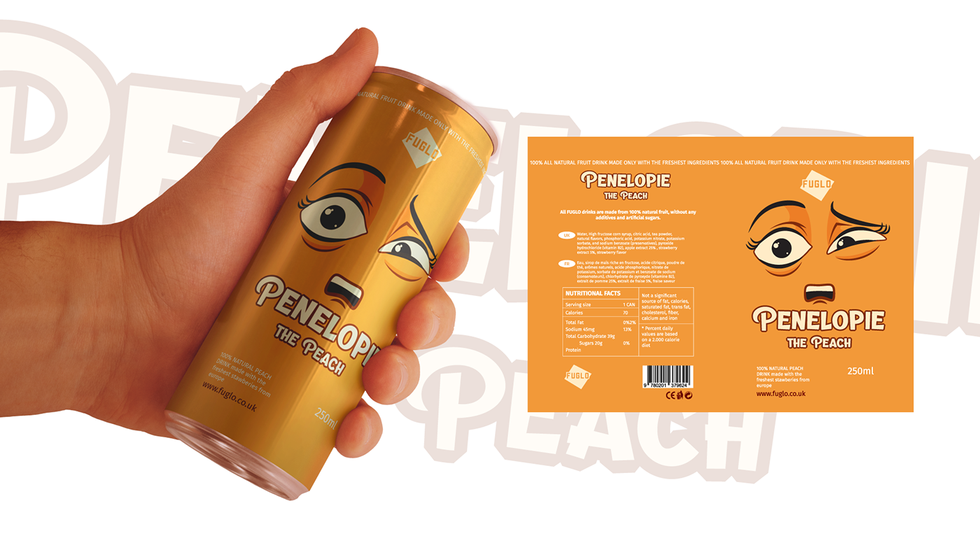 branded soft drink cans with a soda mockup