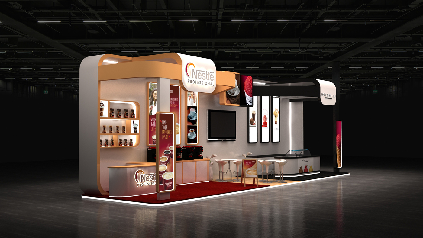 Nestle Exhibition Booth : Nestle cafe x egypt on behance