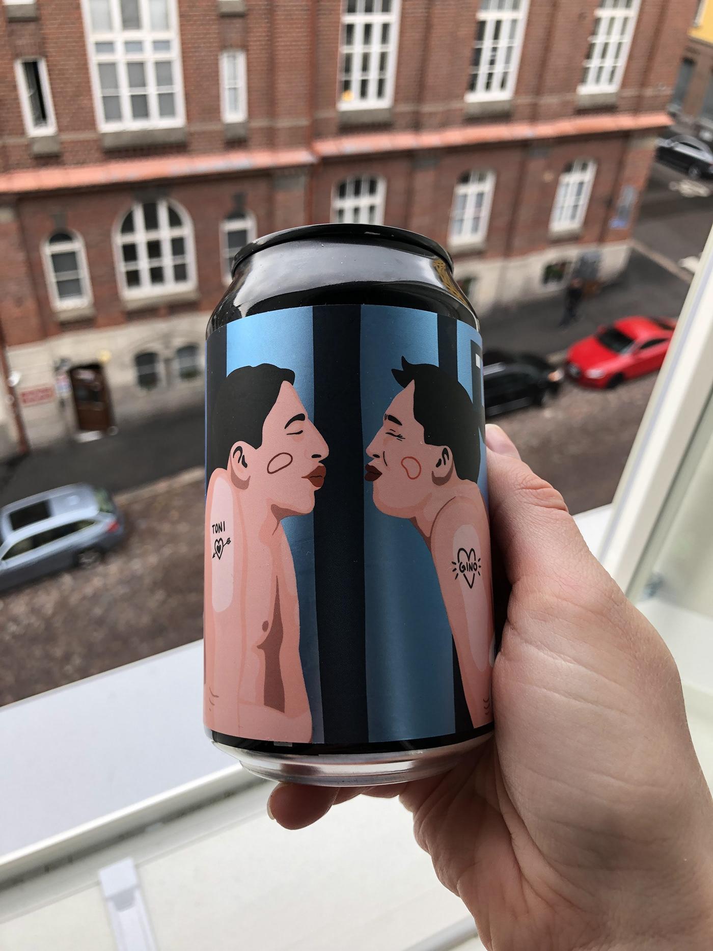 beer digital illustration graphic design  ILLUSTRATION  LGBTQ Love modern art product design