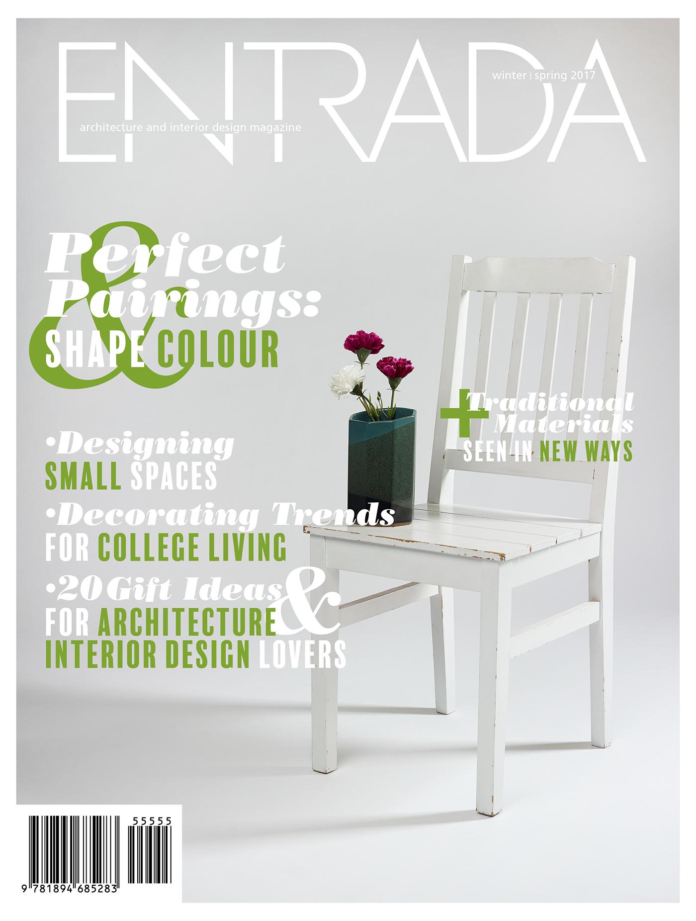 Magazine Cover interior design  typography