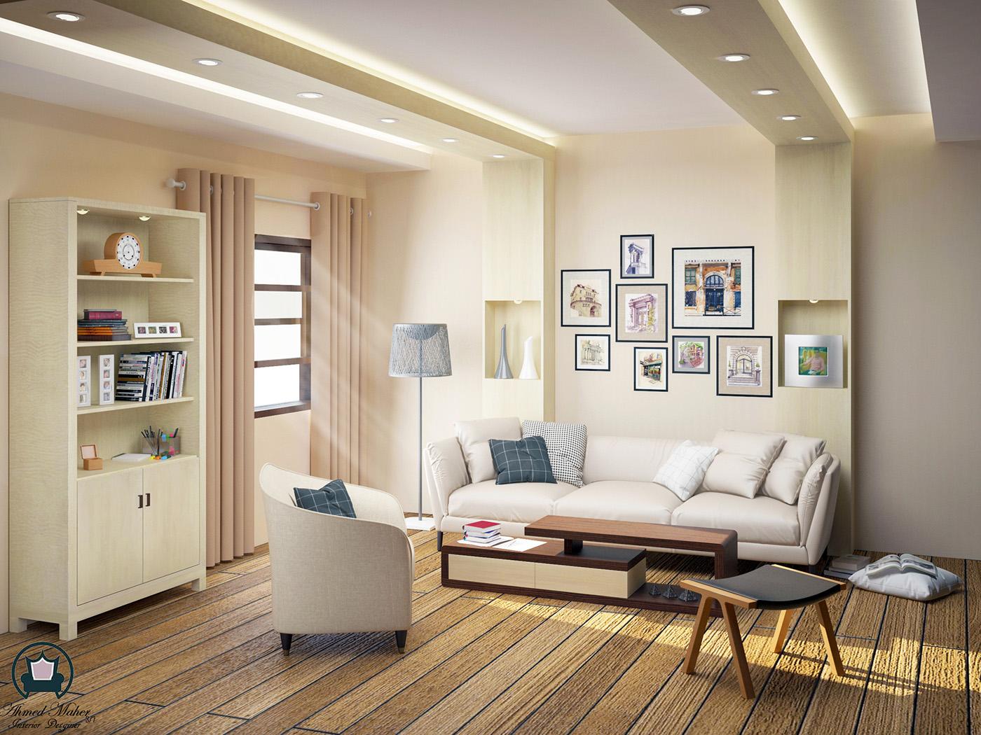 極美的34款客廳牆壁顏色欣賞