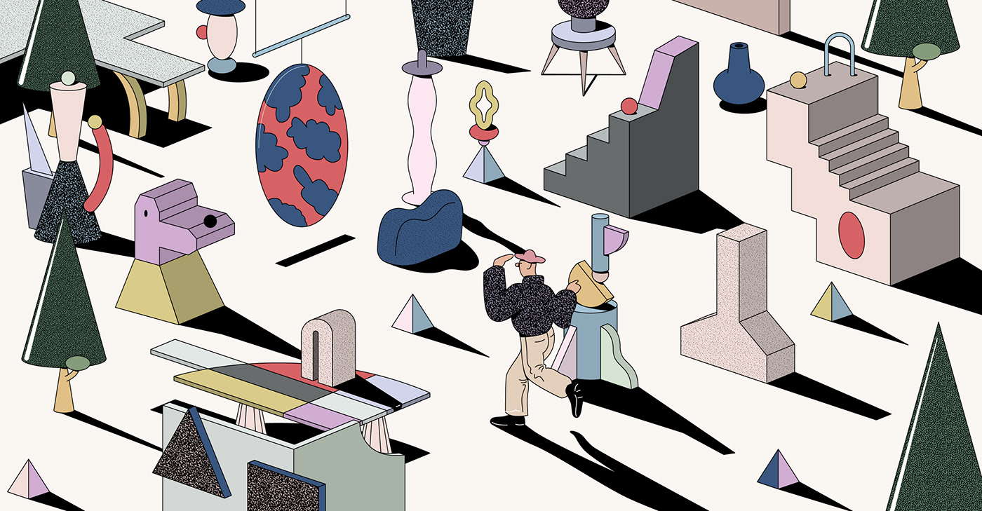 Herman Miller WHY magazine ILLUSTRATION  surrealism Interior Product concept Richard Brook