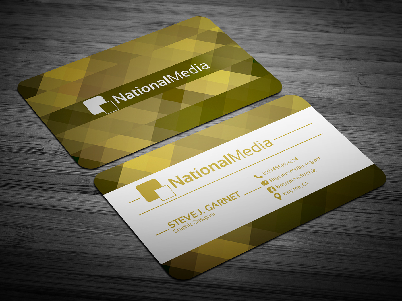 blue business card clean color company corporate creative dark energy