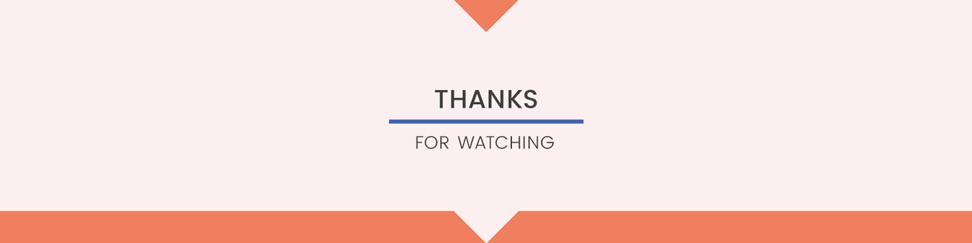 'thank you' footer