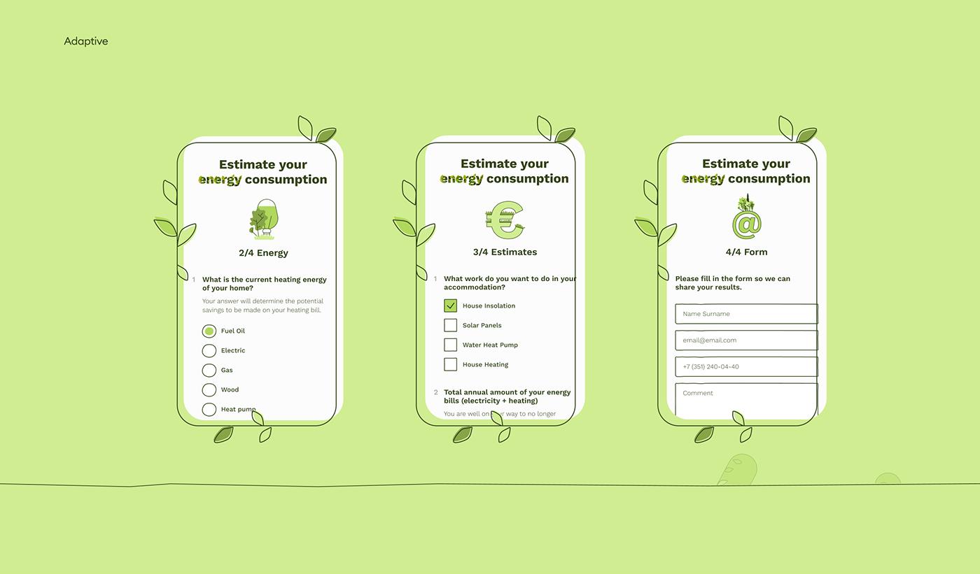 eco france Webdesign ILLUSTRATION  line