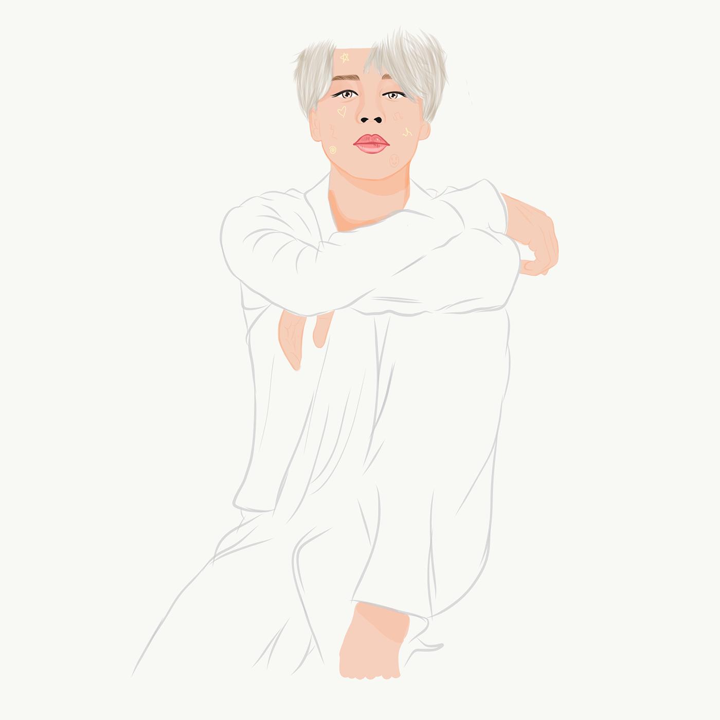 bts BTS FanArt Digital Art  Digital Drawing Drawing  ILLUSTRATION  JIMIN jimin fanart park jimin