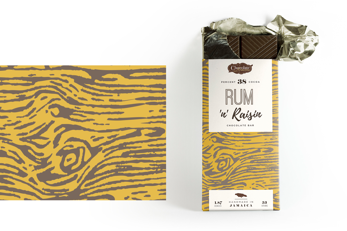 chocolate bar Coffee Cocoa jamaica Packaging Label