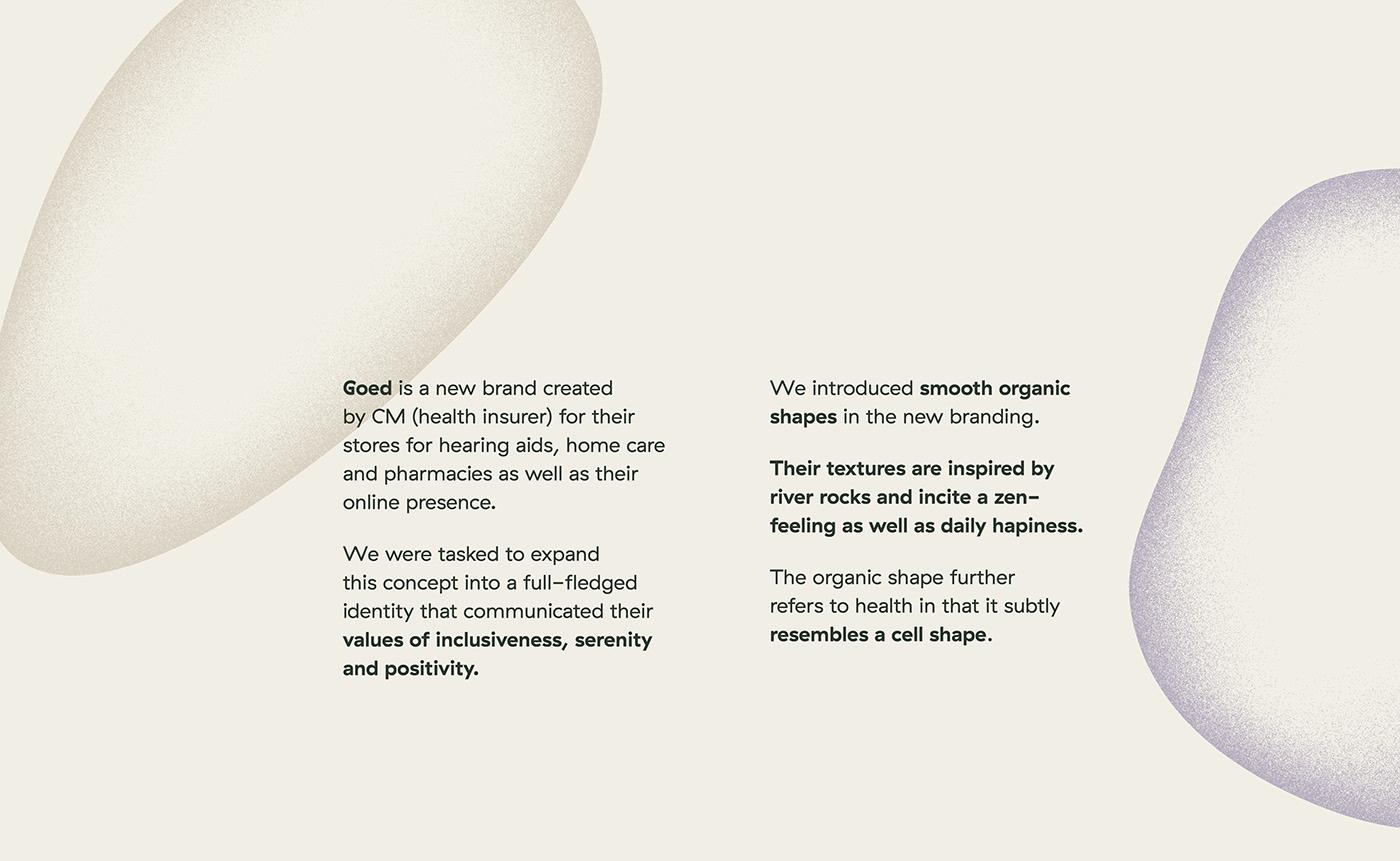branding  shapes logo identity visual identity rebranding pastel organic Health noise