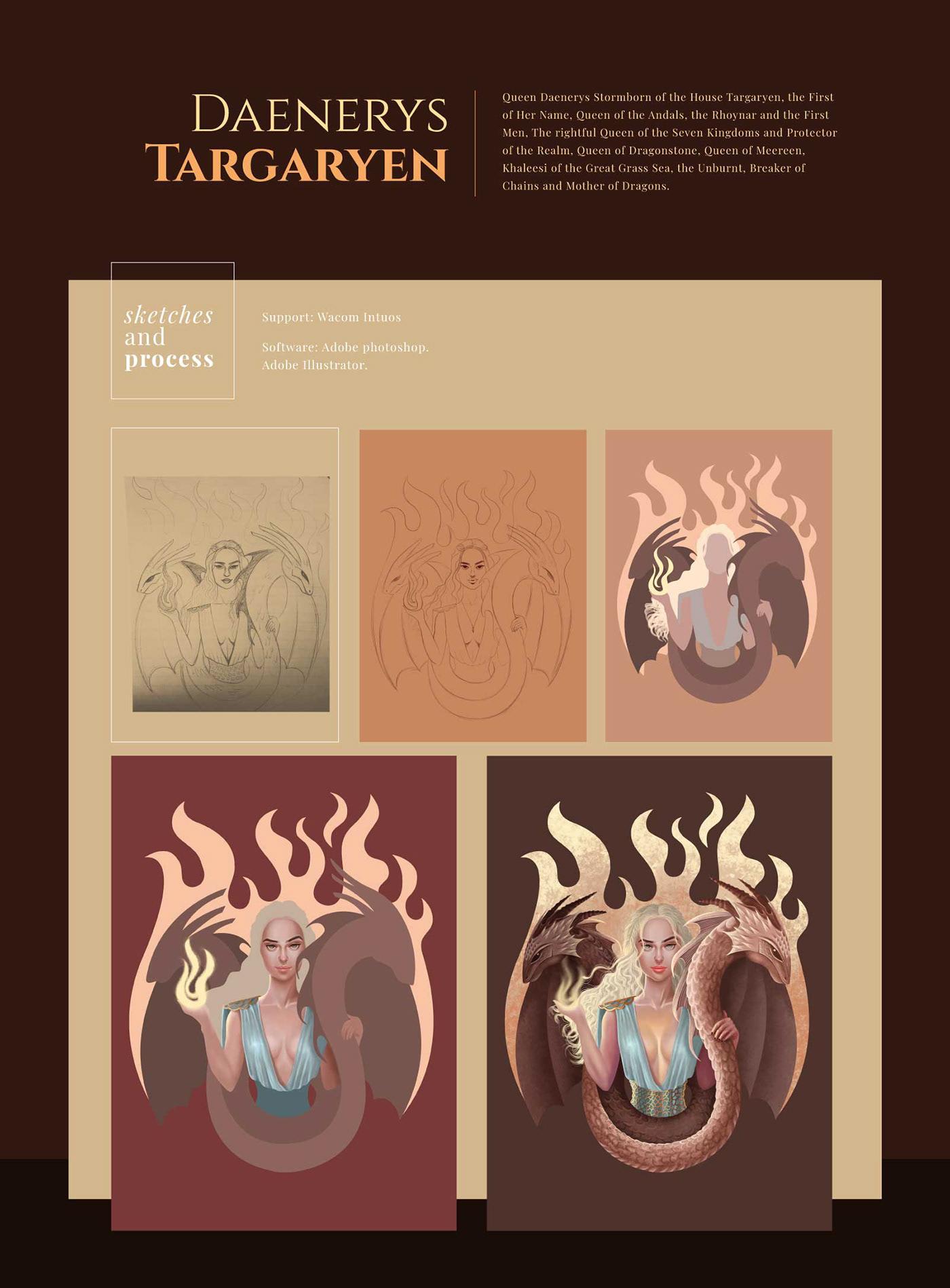 daenerys,targaryen,got,gameofthrones,ILLUSTRATION ,ilustracióncolombia,girlillustrations,Style,light,draw
