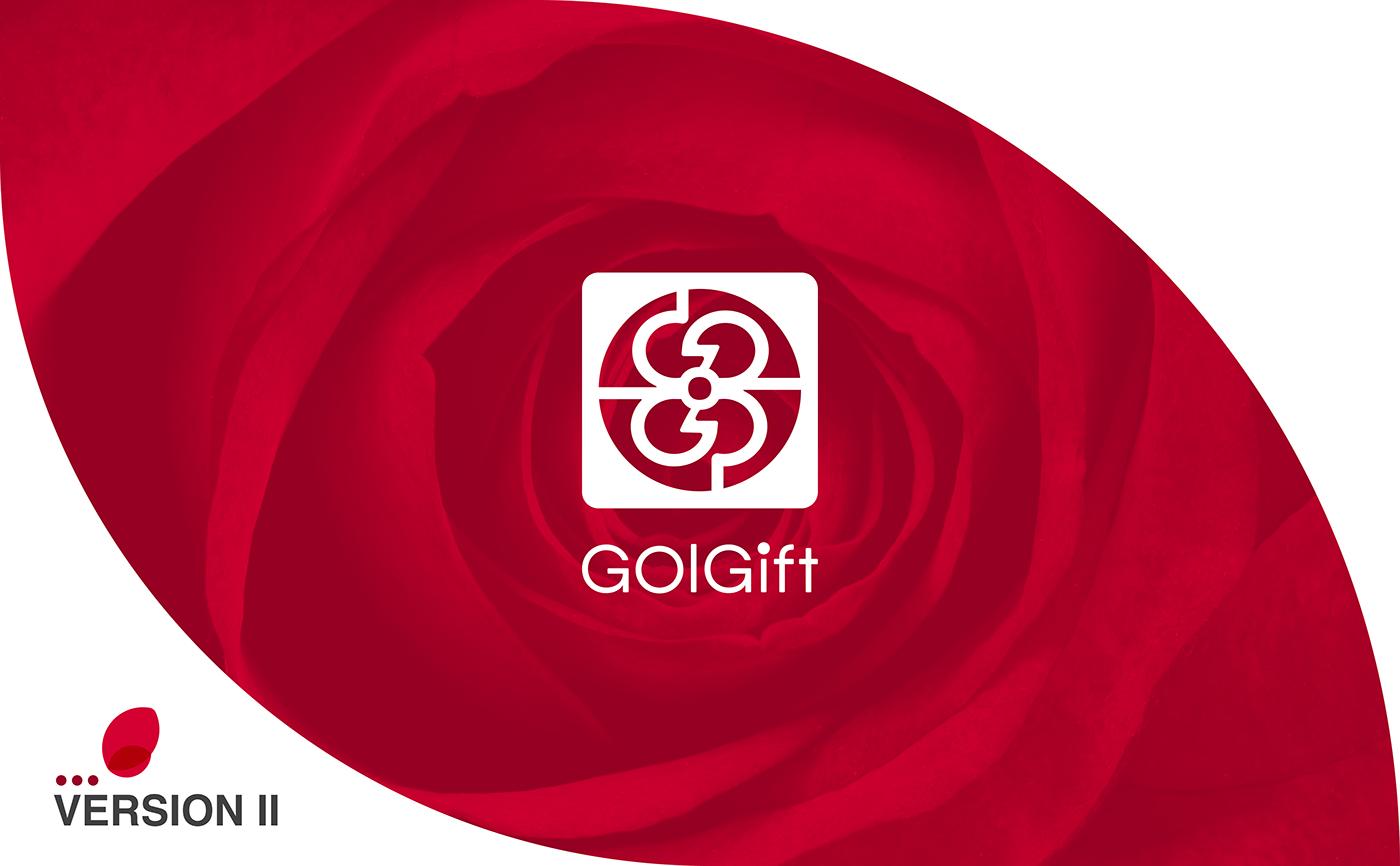 GolGift application branding  Flowers Icon Loading minimal logo Logo Design UI ui design