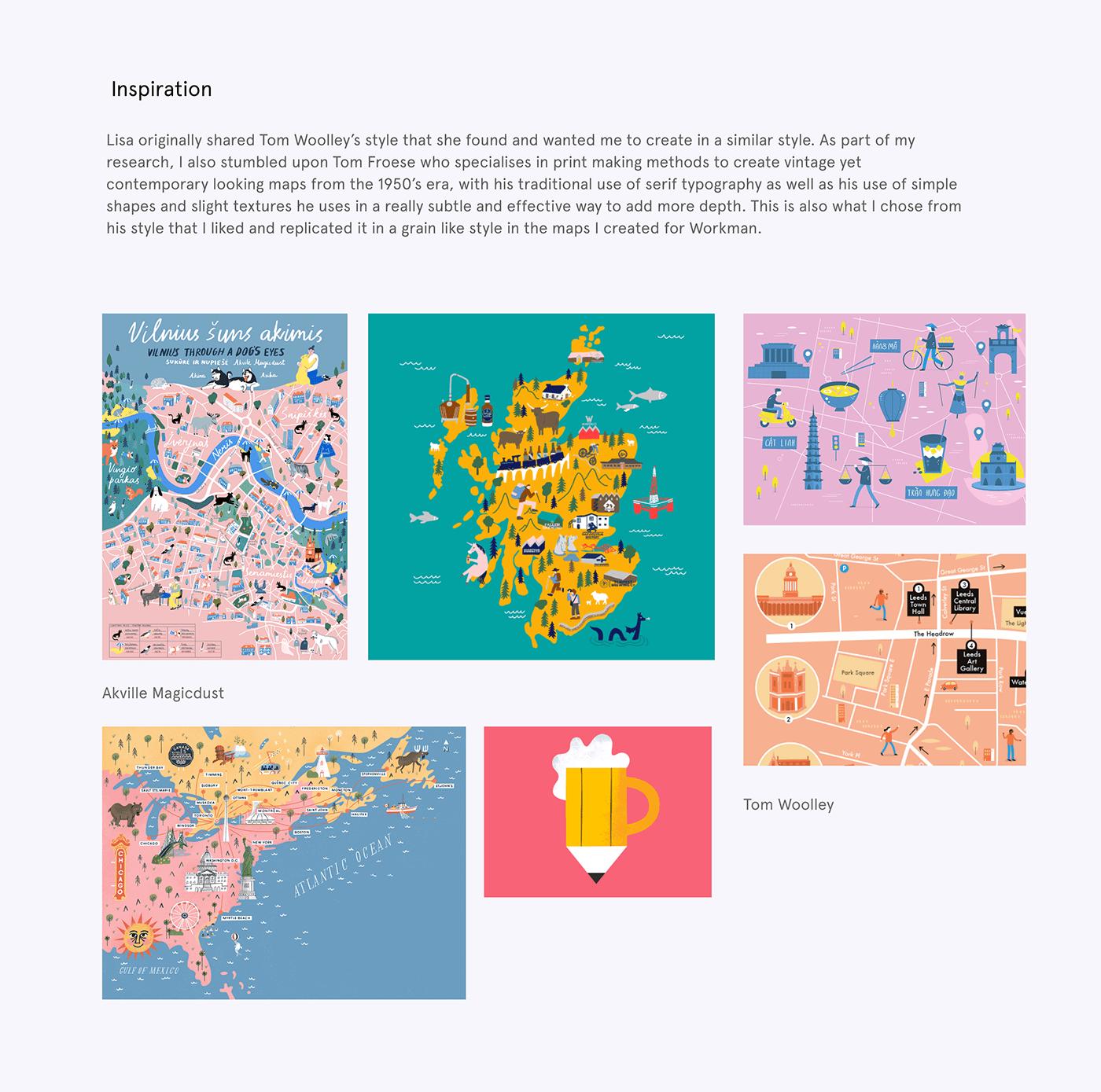 books ILLUSTRATION  maps print publishing   city infographic Isometric Landmarks vector