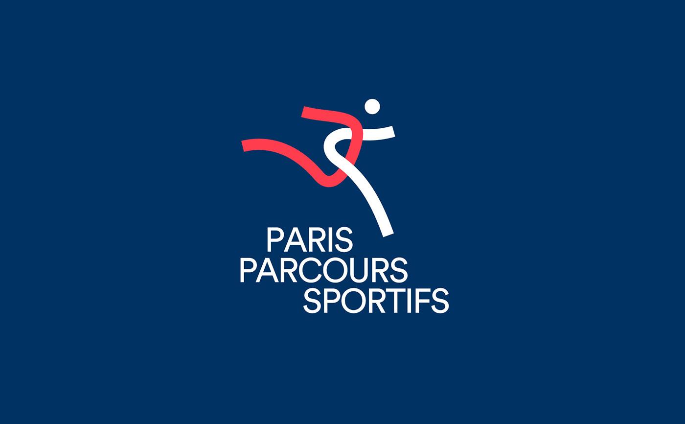 athletic courses line logo parcours Paris sport sporting stroke work-out