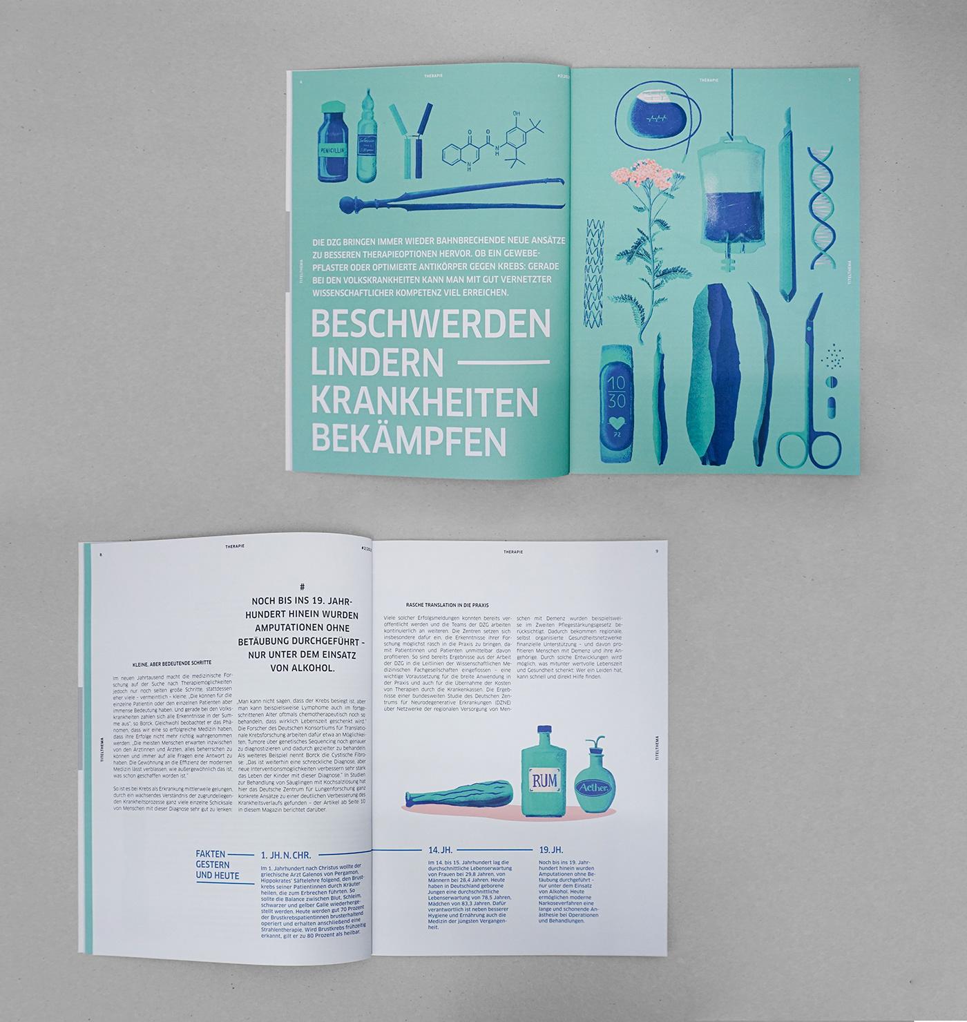 corona editorial design  Health ILLUSTRATION  magazine science therapy virus vaccine