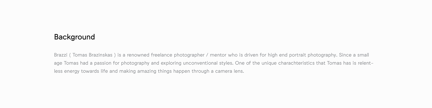 brazzi photographer Photography  Fashion  model minimal wordmark brand Logotype identity