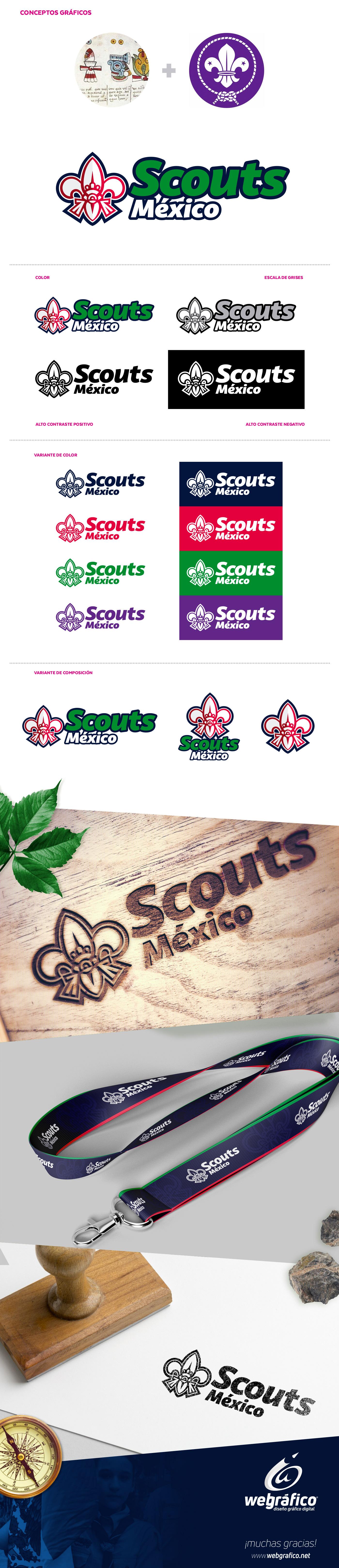 scout mexico aguascalientes webgrafico diseño identidad logo Logotipo scouts