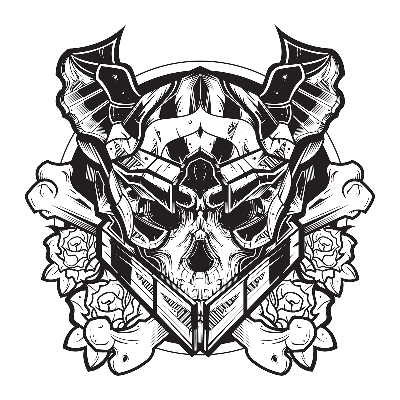 Destiny warlock on behance the design is made for destiny youtuber and twitch streamer smileb4death the briefing of this was really short mix up a warlock helmet with a skull biocorpaavc Gallery