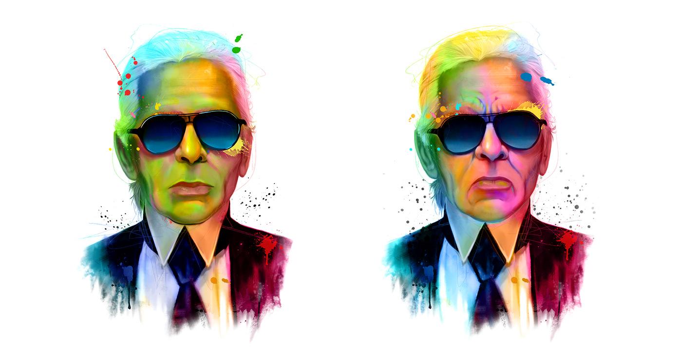 photoshop Illustrator Drawing  editorial art artist lowpoly painting   digital