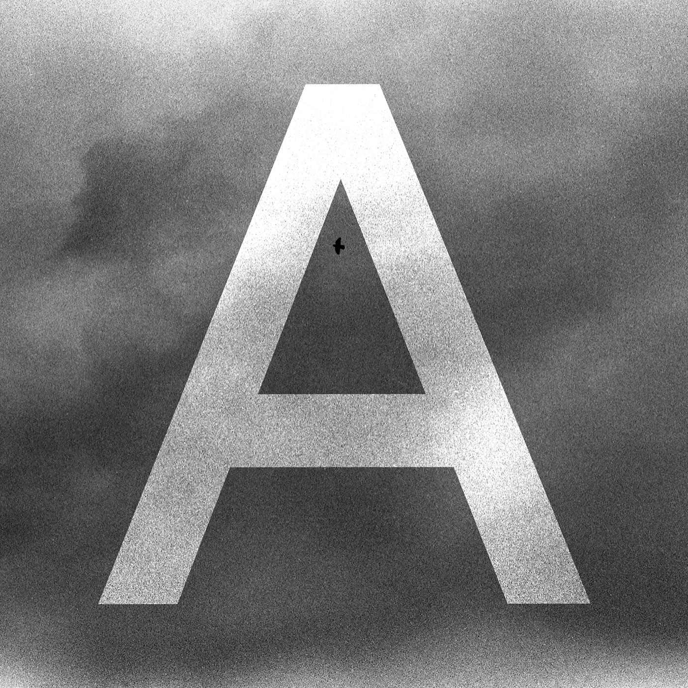 Capital A Photographic Illuminated Capital. Film photograph with digital manipulation.