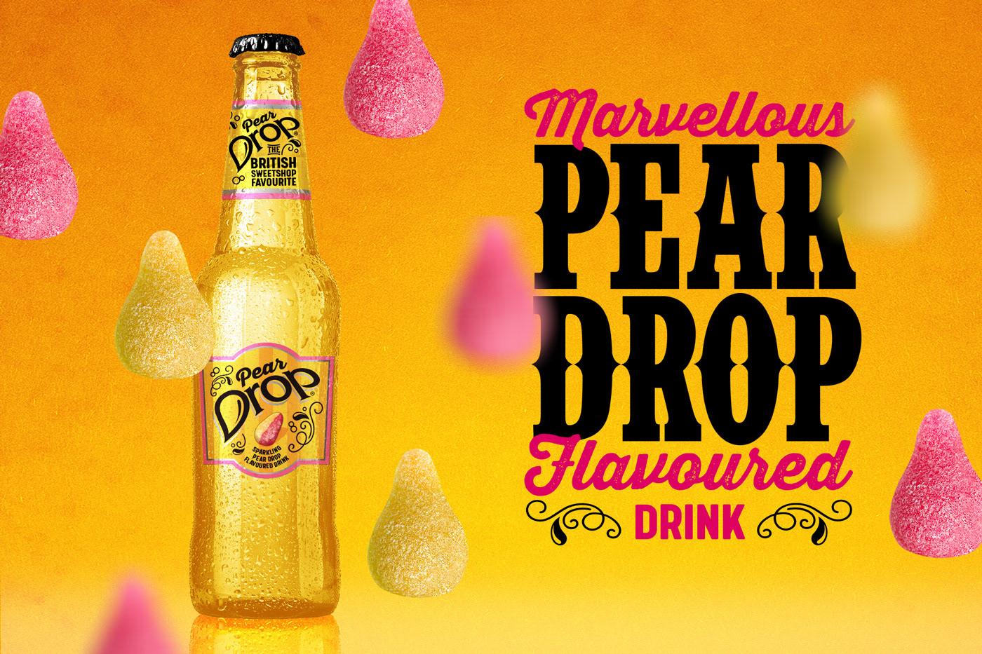 branding  label design Sweetshop Pear Drops nostalgia