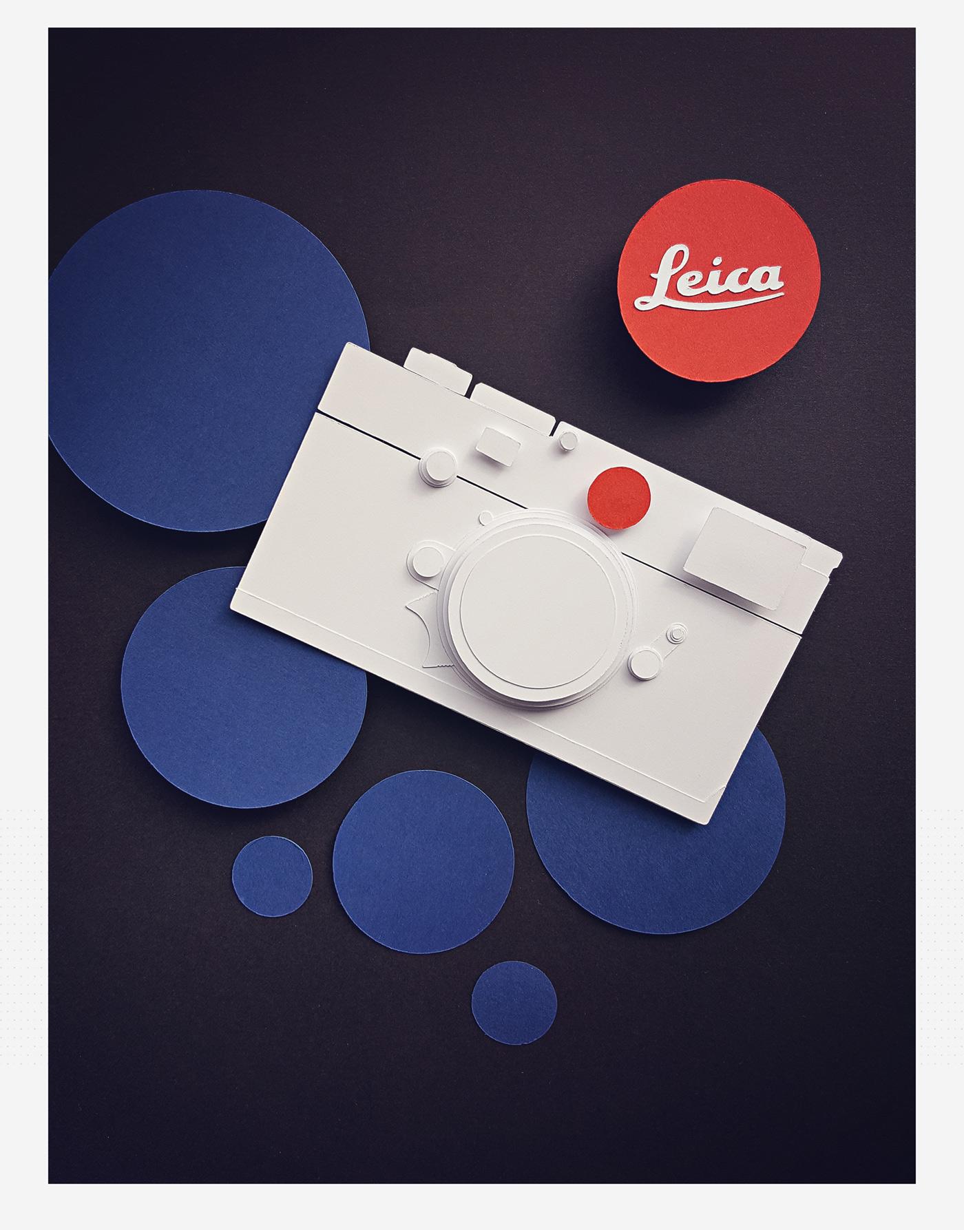 Leica m10 paper papercraft camera red handmade papercut paperwork Photography