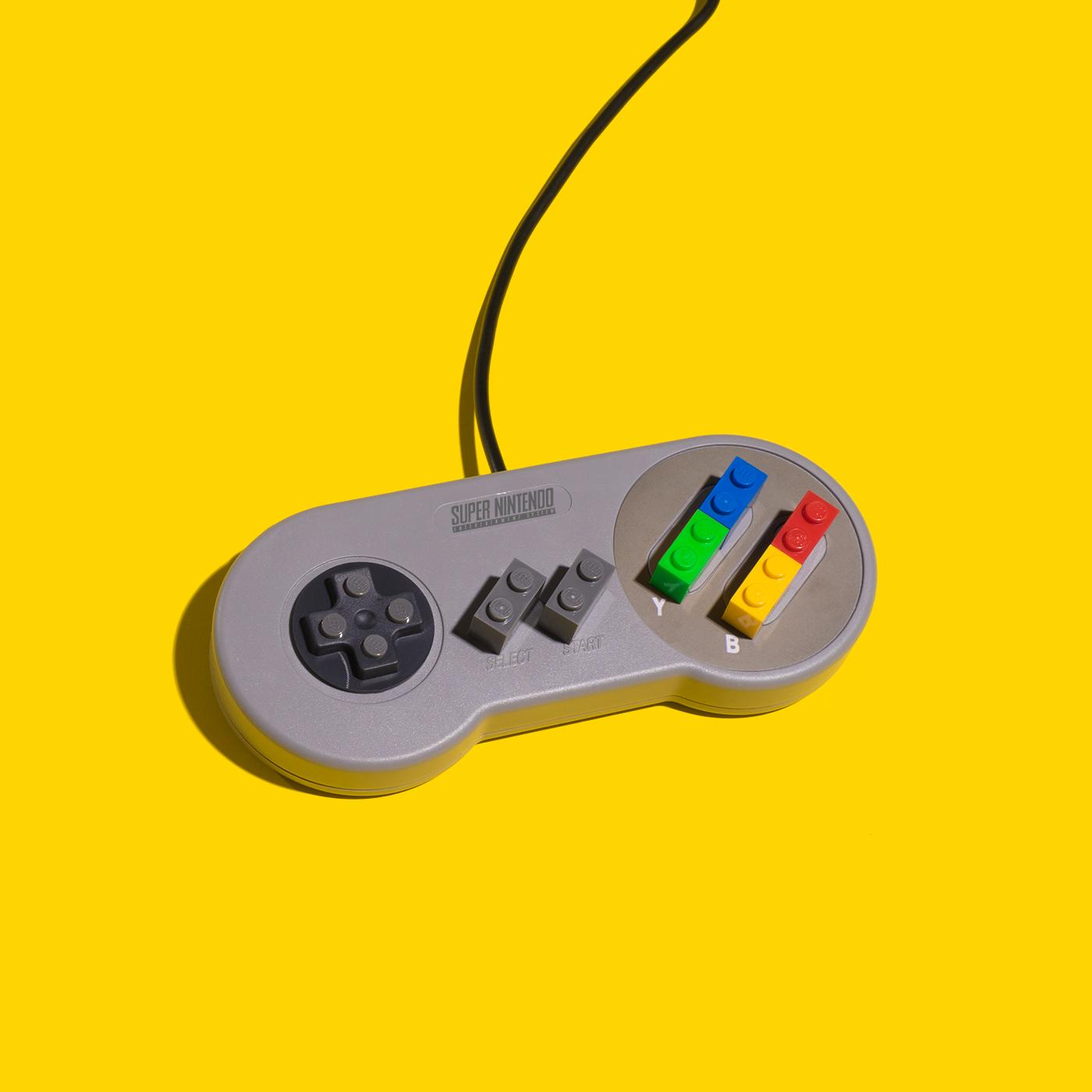 art minimal colorful studio digital editorial LEGO tetris Nintendo inspire