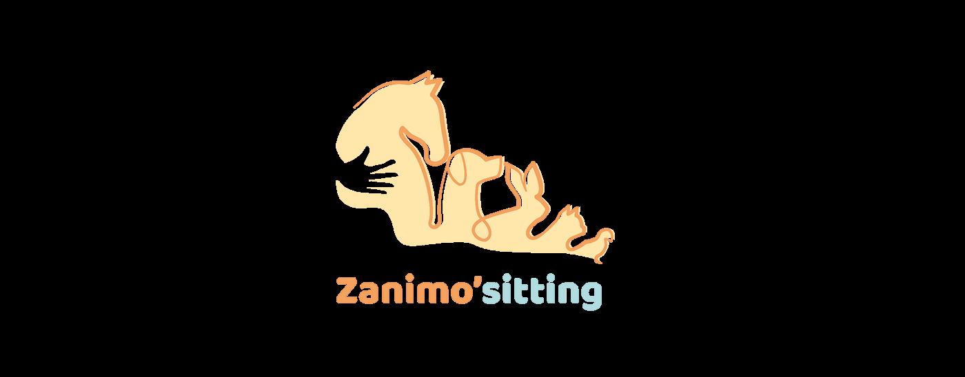 branding  logo graphic design  animal care pet sitting sketch animal service care logo 2019 best logo